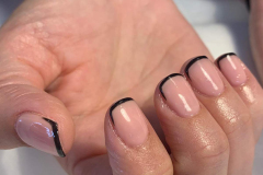 Deep French Gels in Jet Black by Trudy