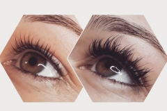 Lashes - before & after
