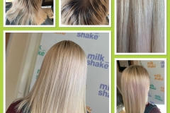 Full-head-of-Baby-Lights-Back-wash-toner.-Milkshake-Colour-Tec