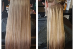 Hair extensions (blonde) by Jenny