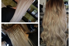 Hair extensions with curls by Jenny