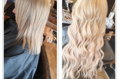 Before & after UTip hair extensions by Jenny Finn.