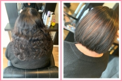 Before-and-after. Bob chop by Creative Director Jenny Finn