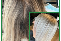 Before & after full head micro lights by Creative Director Jenny Finn