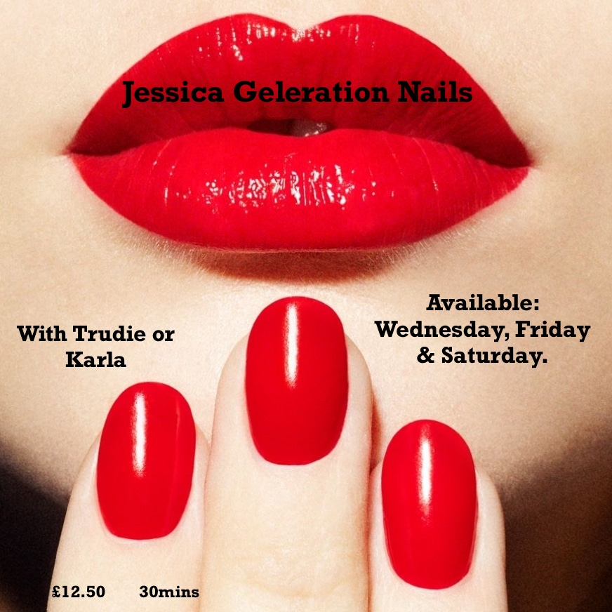 Bright red lips & nails ADVERT GELERATION