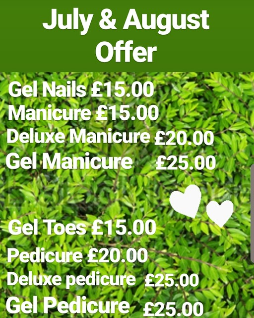 July and August Offer