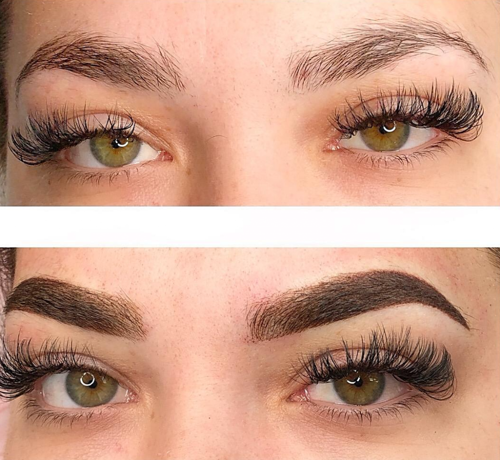 ombre brows and combination brows