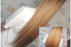 Hair extensions by Jenny Finn.